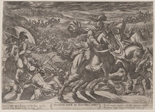 Plate 2: Abraham Liberating His Nephew Lot, from 'The Battles of the Old Testament', ca. 1590-ca. 1610.