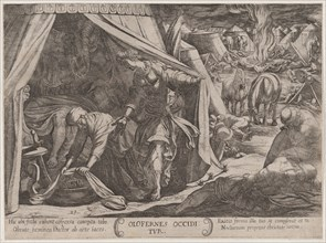 Plate 23: Judith and Holofernes, from 'The Battles of the Old Testament', ca. 1590-ca. 1610.
