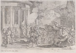 Sinorix carried from the temple of Artemis trying to escape the effects of the poisoning, ca. 1640.