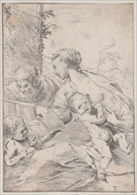 The Holy Family with the infant Saint John holding an apple, ca. 1630.