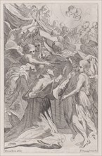 St. Carlo Borromeo surrounded by angels, 1650-70.