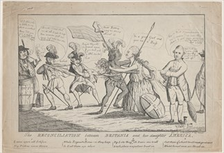 The Reconciliation Between Britannia and Her Daughter America, May 11, 1782.