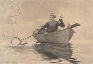Fly Fishing, Saranac Lake, 1889.