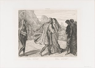 O my fair warrior!: plate 5 from Othello (Act 2, Scene 1), etched 1844, reprinted 1900.