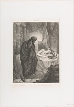Yet she must die: plate 11 from Othello (Act 5, Scene 2), etched 1844, reprinted 1900.