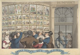 Honi. Soi. Qui. Mal. Y. Pense: The Caricature Shop of G. Humphrey, 27 St. James's Street, London, August 12, 1821.