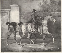 Two Horses Exercised by a Jockey, 1822.