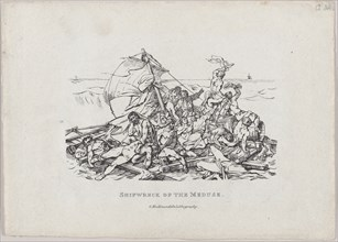 Shipwreck of the Meduse, 1820. [The Raft of the Medusa].