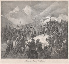 Passage through Mt. Saint-Bernard, 1822.