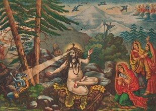 Madan-Bhasma (Shiva Turns Kama to Ashes), 1890.