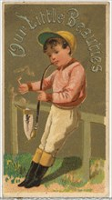 From the Girls and Children series (N58) promoting Our Little Beauties Cigarettes for Allen & Ginter brand tobacco products, 1887.