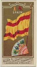 Spain, from Flags of All Nations, Series 1 (N9) for Allen & Ginter Cigarettes Brands, 1887.