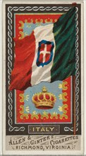 Italy, from Flags of All Nations, Series 1 (N9) for Allen & Ginter Cigarettes Brands, 1887.