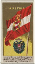 Austria, from Flags of All Nations, Series 1 (N9) for Allen & Ginter Cigarettes Brands, 1887.