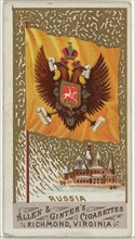 Russia, from Flags of All Nations, Series 1 (N9) for Allen & Ginter Cigarettes Brands, 1887.