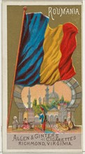 Romania, from Flags of All Nations, Series 1 (N9) for Allen & Ginter Cigarettes Brands, 1887.