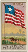 Liberia, from Flags of All Nations, Series 1 (N9) for Allen & Ginter Cigarettes Brands, 1887.