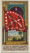 Morocco, from Flags of All Nations, Series 1 (N9) for Allen & Ginter Cigarettes Brands, 1887.