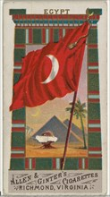 Egypt, from Flags of All Nations, Series 1 (N9) for Allen & Ginter Cigarettes Brands, 1887.
