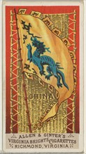 China, from Flags of All Nations, Series 1 (N9) for Allen & Ginter Cigarettes Brands, 1887.