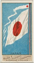 Japan, from Flags of All Nations, Series 1 (N9) for Allen & Ginter Cigarettes Brands, 1887.