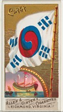Korea, from Flags of All Nations, Series 1 (N9) for Allen & Ginter Cigarettes Brands, 1887.