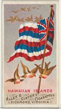 Hawaiian Islands, from Flags of All Nations, Series 1 (N9) for Allen & Ginter Cigarettes Brands, 1887.