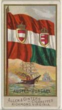 Austro-Hungary, from Flags of All Nations, Series 2 (N10) for Allen & Ginter Cigarettes Brands, 1890.