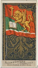 Austrian Italy, from Flags of All Nations, Series 2 (N10) for Allen & Ginter Cigarettes Brands, 1890.