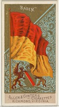 Baden, from Flags of All Nations, Series 2 (N10) for Allen & Ginter Cigarettes Brands, 1890.