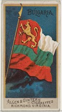 Bulgaria, from Flags of All Nations, Series 2 (N10) for Allen & Ginter Cigarettes Brands, 1890.
