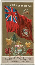 Dominion of Canada, from Flags of All Nations, Series 2 (N10) for Allen & Ginter Cigarettes Brands, 1890.