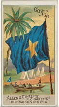 Congo, from Flags of All Nations, Series 2 (N10) for Allen & Ginter Cigarettes Brands, 1890.