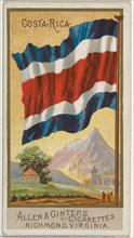 Costa Rica, from Flags of All Nations, Series 2 (N10) for Allen & Ginter Cigarettes Brands, 1890.
