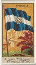 Honduras, from Flags of All Nations, Series 2 (N10) for Allen & Ginter Cigarettes Brands, 1890.