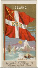 Iceland, from Flags of All Nations, Series 2 (N10) for Allen & Ginter Cigarettes Brands, 1890.