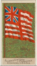 India, from Flags of All Nations, Series 2 (N10) for Allen & Ginter Cigarettes Brands, 1890.