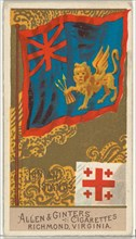 Ionian Islands, from Flags of All Nations, Series 2 (N10) for Allen & Ginter Cigarettes Brands, 1890.