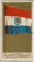 Grand Duchy of Luxemburg, from Flags of All Nations, Series 2 (N10) for Allen & Ginter Cigarettes Brands, 1890.
