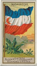 Madagascar, from Flags of All Nations, Series 2 (N10) for Allen & Ginter Cigarettes Brands, 1890.