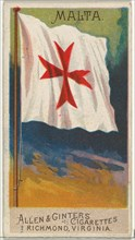 Malta, from Flags of All Nations, Series 2 (N10) for Allen & Ginter Cigarettes Brands, 1890.