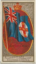 New South Wales, from Flags of All Nations, Series 2 (N10) for Allen & Ginter Cigarettes Brands, 1890.