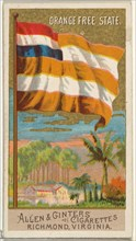 Orange Free State, from Flags of All Nations, Series 2 (N10) for Allen & Ginter Cigarettes Brands, 1890.