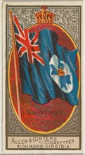 Queensland, from Flags of All Nations, Series 2 (N10) for Allen & Ginter Cigarettes Brands, 1890.