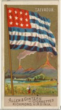 Salvador, from Flags of All Nations, Series 2 (N10) for Allen & Ginter Cigarettes Brands, 1890.