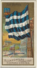 San Marino, from Flags of All Nations, Series 2 (N10) for Allen & Ginter Cigarettes Brands, 1890.