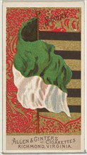 Saxony, from Flags of All Nations, Series 2 (N10) for Allen & Ginter Cigarettes Brands, 1890.
