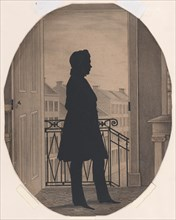Silhouette of a Young Man Before an Open Window, Facing Right, before 1860.