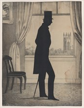 Silhouette of Nathaniel Babson of Gloucester, Massachusetts, 1828-83.