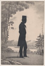 Silhouette of Edward Worth of Saco, Maine, 1828-83.